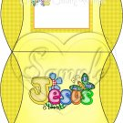 Jesus is Love Yellow with Dark Yellow ~ Personalizable Pillow Treat Gift Box