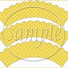 Just Wanted to Brighten Your Day  ~ Cupcake Wrapper ~ Set of 1 Dozen