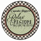 Relax & Restore, Take Time for You ~ Cupcake Toppers ~ Set of 1 Dozen