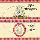 All About Daisies  ~ MINI Candy Bar Wrappers