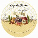Cout Each Day As A Blessing  ~ Cupcake Toppers ~ Set of 1 Dozen