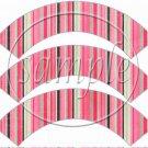 Pink  Stripe Thank You ~ Cupcake Wrapper ~ Set of 1 Dozen