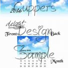 Blue Skies Delight in the Momment ~ 12 Month CD Case Calendar 2017