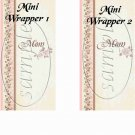 Mom Beige ~ Mother's Day  ~ MINI Candy Bar Wrappers