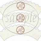 Mom Beige ~ Mother's Day ~  Cupcake Wrappers ~ Set of 1 Dozen
