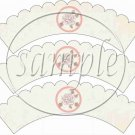 Mom Pink ~ Mother's Day ~  Cupcake Wrappers ~ Set of 1 Dozen