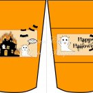 Burning House Halloween ~  Gift Card Holder Latte` Cup