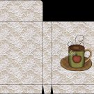 Country Coffee Cup ~  Gift Card Envelope