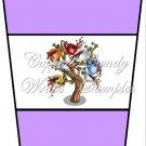 Coffee Tree Purple ~  Gift Card Holder Latte` Cup