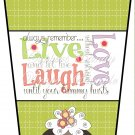 Live Laugh Love ~  Gift Card Holder Latte` Cup