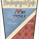 Thank You for Keeping Us Safe ~  Gift Card Holder Latte` Cup
