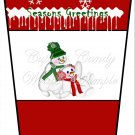 Season's Greetings Snow Play Red ~  Gift Card Holder Latte` Cup