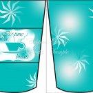 Teal Star ~  Gift Card Holder Latte` Cup