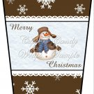 Merry Christmas Brown ~  Gift Card Holder Latte` Cup