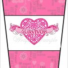 Cancer Survivor ~  Gift Card Holder Latte` Cup