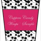 Black & White Floral ~  Gift Card Holder Latte` Cup