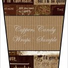 Give Up Chocolate..... No Quitter  ~  Gift Card Holder Latte` Cup