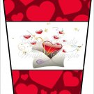 Love Hearts Valentine's  ~  Gift Card Holder Latte` Cup