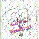 """Let's Party ~ Vertical  ~ 6"""" X 8"""" Foil Pan Lid Cover"""