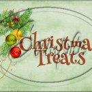 "Christmas Treats Ornaments Green  ~ Horizontal ~ 6"" X 8"" Foil Pan Lid Cover"