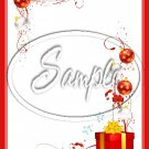 "Christmas Presents & Ornaments ~ Vertical  ~ 6"" X 8"" Foil Pan Lid Cover"