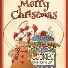 "Merry Christmas Cookies for the Oven  ~ Vertical  ~ 6"" X 8"" Foil Pan Lid Cover"