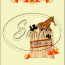 "Fall Straw Bale ~ Vertical  ~ 6"" X 8"" Foil Pan Lid Cover"