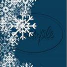 "Dark Blue ~ Winter Snow Fall ~ Christmas ~ Vertical   ~ 6"" X 8"" Foil Pan Lid Cover"