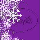 "Purple ~ Winter Snow Fall ~ Christmas ~ Vertical  ~ 6"" X 8"" Foil Pan Lid Cover"