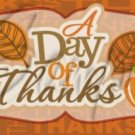Day of Thanks ~  Quart Glass Jar