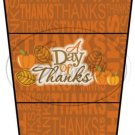 Day of Thanks ~ Gift Card Holder Latte` Cup