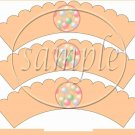 Birthday Balloons #1 ~  Scalloped Cupcake Wrappers ~ Set of 1 Dozen
