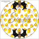 Candy Corn Bats  ~ Cupcake Toppers ~ Set of 1 Dozen