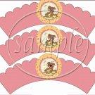 Bee - attitudes Honey Bear #1 ~ Scalloped Cupcake Wrappers ~ Set of 1 Dozen