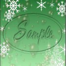 """Snow Flake Green 3 ~ Christmas ~ Vertical  ~ 6"""" X 8"""" Foil Pan Lid Cover"""