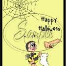 "Halloween Bee ~ Vertical  ~ 6"" X 8"" Foil Pan Lid Cover"
