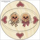 """Gingerbread Couple Face Tan ~ Christmas ~ 7"""" Round Foil Pan Lid Cover"""