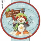 Chillin' Penguin ~ Pencil, Straw or Candy Cane Sliders ~ Set of 12