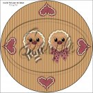 """Gingerbread Couple Face Brown ~ Christmas ~ 7"""" Round Foil Pan Lid Cover"""