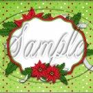 """Blank Christmas Green Polka Dot  ~ Horizontal  ~ 6"""" X 8"""" Foil Pan Lid Cover"""