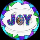 "Joy Stained Glass ~ Christmas ~ 7"" Round Foil Pan Lid Cover"
