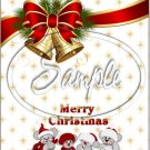 "Merry Christmas Bells ~ Vertical  ~ 6"" X 8"" Foil Pan Lid Cover"