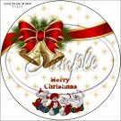 """Merry Christmas Bells  ~ 7"""" Round Foil Pan Lid Cover"""