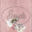 """Mouse Angels ~ Christmas  ~ Vertical  ~ 6"""" X 8"""" Foil Pan Lid Cover"""