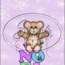 "Noel Bear  ~ Christmas ~ Vertical  ~ 6"" X 8"" Foil Pan Lid Cover"