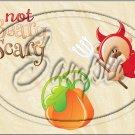 "Not Beary Scary Bear ~ Halloween ~ Horizontal  ~ 6"" X 8"" Foil Pan Lid Cover"