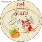 """Not Beary Scary Bear ~ Halloween ~ 7"""" Round Foil Pan Lid Cover"""