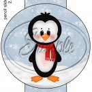 Penguin Red Scarf   ~ Pencil, Straw or Candy Cane Sliders ~ Set of 12