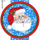 Santa Face ~ Pencil, Straw or Candy Cane Sliders ~ Set of 12