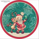 "Santa Selfie ~ Christmas   ~  7"" Round Foil Pan Lid Cover"
